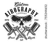 custom aerography company... | Shutterstock . vector #755244652