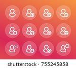 login  account icons set