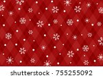 snow crystal background | Shutterstock .eps vector #755255092