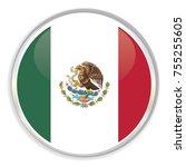the mexico flag | Shutterstock .eps vector #755255605