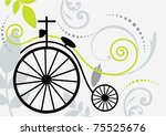 Vintage Two Wheeled Bike With...