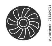 exhaust fan glyph icon.... | Shutterstock .eps vector #755264716