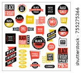 big set of banners and clip art ... | Shutterstock .eps vector #755275366