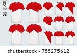 t shirt sport design for soccer ... | Shutterstock .eps vector #755275612