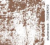 brown watercolor paint splashes.... | Shutterstock .eps vector #755289292