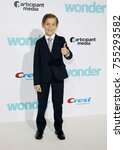 jacob tremblay at the los... | Shutterstock . vector #755293582