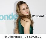 izabela vidovic at the los... | Shutterstock . vector #755293672