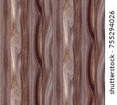 seamless natural wood texture | Shutterstock . vector #755294026