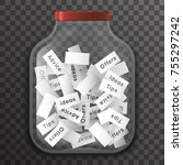 tip advice offer idea empty...   Shutterstock .eps vector #755297242
