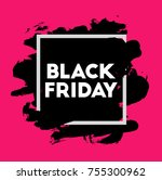 black friday. holiday sale.... | Shutterstock .eps vector #755300962
