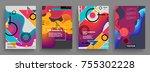 artistic covers design.... | Shutterstock .eps vector #755302228