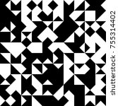 black and white  abstract... | Shutterstock .eps vector #755314402