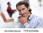 portrait of a successful man | Shutterstock . vector #755320486