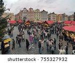 prague  czech republic  ... | Shutterstock . vector #755327932