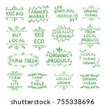 vector collection of hand drawn ... | Shutterstock .eps vector #755338696