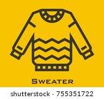 sweater vector icon | Shutterstock .eps vector #755351722