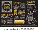 bakery dessert menu for... | Shutterstock .eps vector #755353258