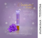 vector 3d cosmetic illustration ... | Shutterstock .eps vector #755354566