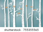 illustration of winter season... | Shutterstock .eps vector #755355565