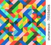 abstract 1980 memphis geometric ...   Shutterstock .eps vector #755356036