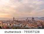 panorama of florence with arno... | Shutterstock . vector #755357128