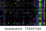 glitch texture. computer screen ... | Shutterstock .eps vector #755357182