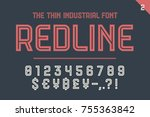 numeric and symbol font red... | Shutterstock .eps vector #755363842