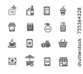 set of shopping icons | Shutterstock .eps vector #755364328