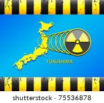 japan  nuclear disaster | Shutterstock .eps vector #75536878