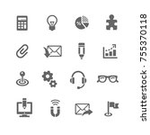 business icon set | Shutterstock .eps vector #755370118