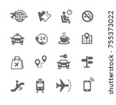 set of travel icons | Shutterstock .eps vector #755373022