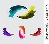 color wave shape | Shutterstock .eps vector #755381716