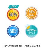 summer sale. design banners and ... | Shutterstock .eps vector #755386756