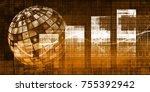 media platform in the digital... | Shutterstock . vector #755392942