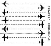 airplanes | Shutterstock .eps vector #75539569