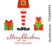 lettering merry christmas and...   Shutterstock .eps vector #755405995