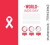 world aids day brochure. world... | Shutterstock .eps vector #755413462