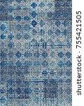 modern patchwork carpet | Shutterstock . vector #755421505
