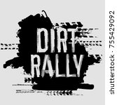 off road dirt rally hand drawn... | Shutterstock .eps vector #755429092