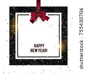 merry christmas  greeting... | Shutterstock .eps vector #755430706