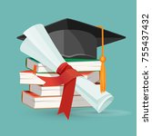 degree scroll on background of... | Shutterstock .eps vector #755437432