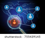 searching for insider threats...   Shutterstock . vector #755439145