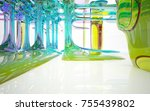 abstract white and colored... | Shutterstock . vector #755439802