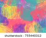 colorful gradient color... | Shutterstock . vector #755440312