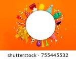 children party background.... | Shutterstock . vector #755445532