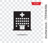 hospital icon cross building... | Shutterstock .eps vector #755446486