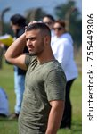 Small photo of AUSCHWITZ BIRKENAU POLAND 09 17 17: Young Irsareli visit the site of former German Nazi death camp Auschwitz, in Oswiecim, Poland for motivation before theirs military service.