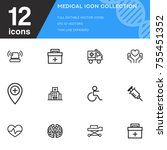 medical icon collection vector... | Shutterstock .eps vector #755451352