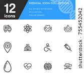 medical icon collection vector... | Shutterstock .eps vector #755452042