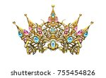crown  decorative elements in... | Shutterstock . vector #755454826